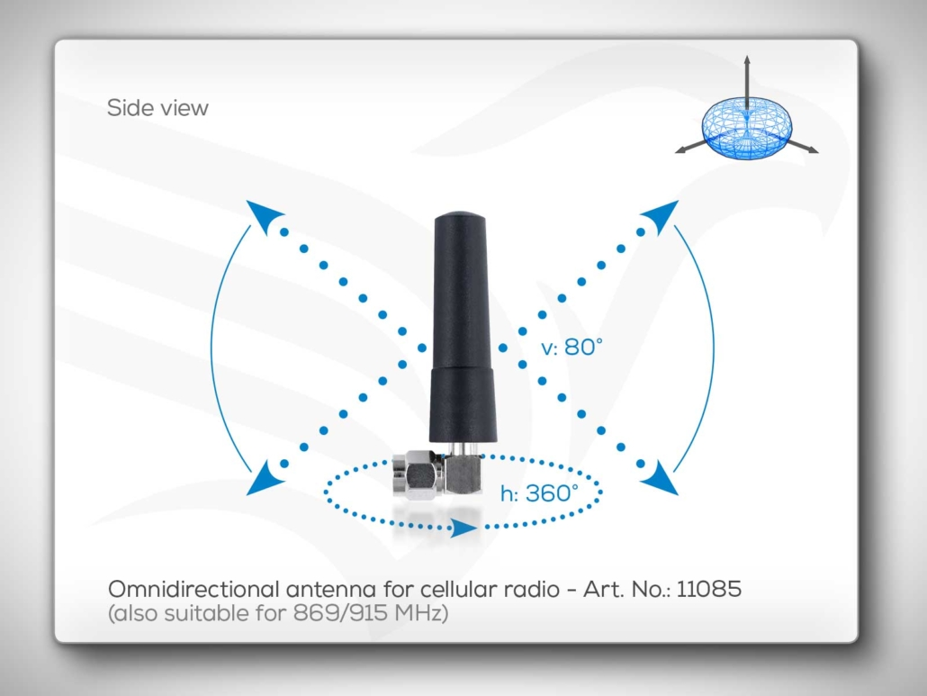 Omnidirectional Antenna 869/915 MHz and Cellular Art. No.: 11085