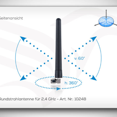 Rundstrahlantenne für 2,4 GHz