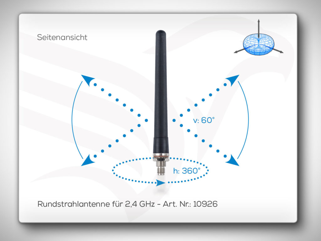 Rundstrahlantenne 2,4 GHz Art. Nr.: 10926