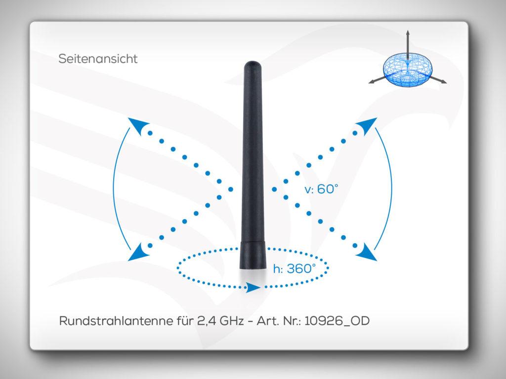 Rundstrahlantenne 10926_OD für 2,4 GHz