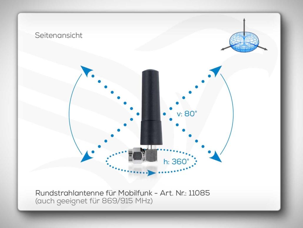 Rundstrahlantenne 869/915 MHz und Mobilfunk Art. Nr.: 11085