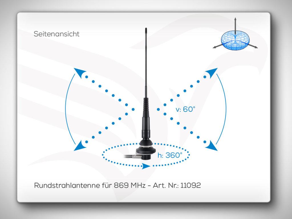 Rundstrahlantenne 869 MHz Art. Nr.: 11092