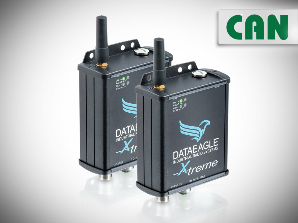 DATAEAGLE 6000 X-treme • Industrial Wireless CAN • Radio modem for wireless data transmission for CAN