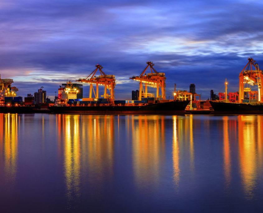 Krantechnik Beispiel Hafen