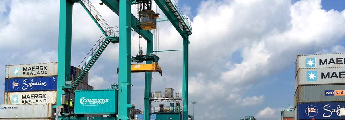 Global condition monitoring for E-RTG cranes