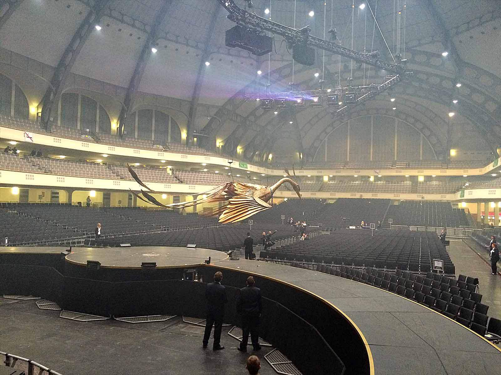Safe stage technology with radio at Helene Fischer