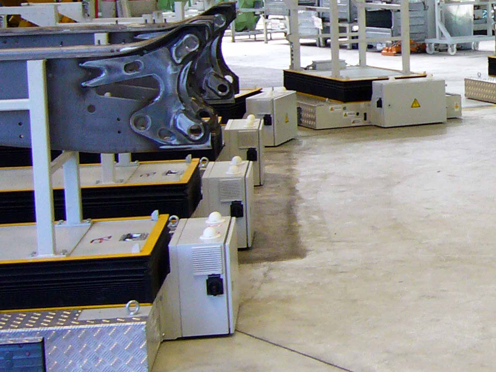 Automated Guided Vehicles (AGVs) and the radio data transmission system DATAEAGLE