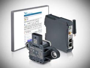 DATAEAGLE Condition Monitoring System - IoT Datenfunkmodem, Bosch Multisensor und DATAEAGLE Portal für die Fernüberwachung von Motoren und Maschinen