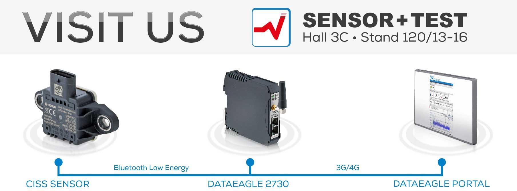 Schildknecht AG auf der Sensor+Test 2020 ((•)) DATAEAGLE Condition Monitoring System